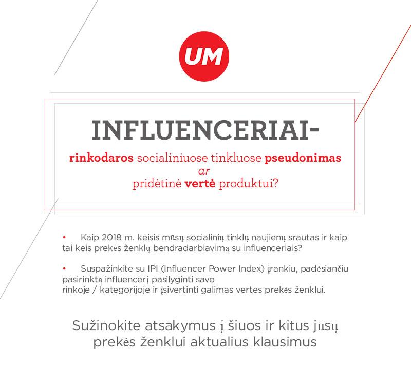 Influenceriai- socialinių tinklų rinkodara